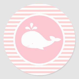 Pegatina de encargo del cumpleaños de la ballena