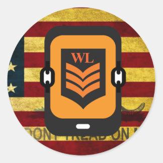Pegatina de encargo del logotipo del WL
