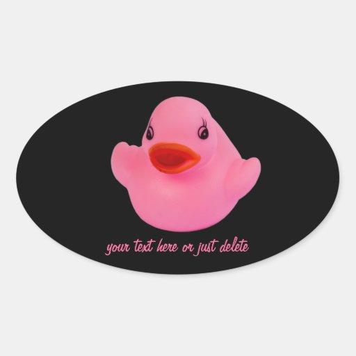 Pegatina de encargo del pato de la diversión linda