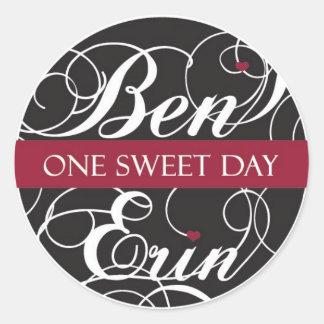 Pegatina de encargo para Ben y Erin (Heart2)