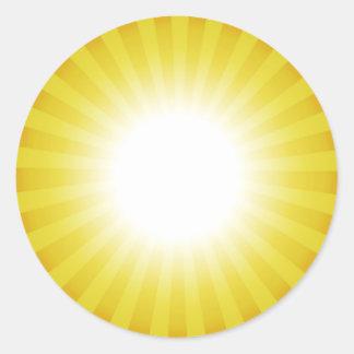 Pegatina de encargo soleado