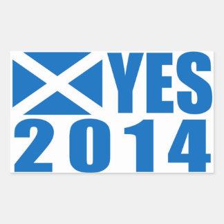 Pegatina de Escocia 2014 SÍ
