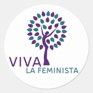 Pegatina de Feminista del la de Viva