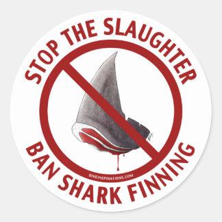 Pegatina de Finning del tiburón de la prohibición