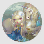 """Pegatina de """"Fiona y del unicornio"""""""