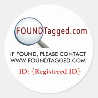 Pegatina de FoundTagged
