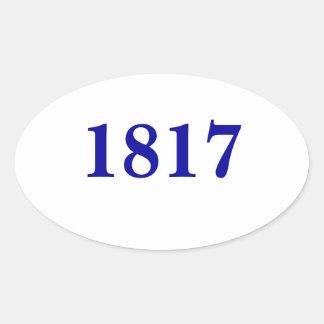 Pegatina de fundación del blanco de la fecha de