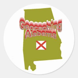 Pegatina de Geocaching Alabama