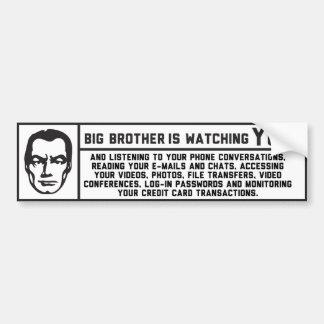 Pegatina de George Orwell 1984 hermano mayor Etiqueta De Parachoque