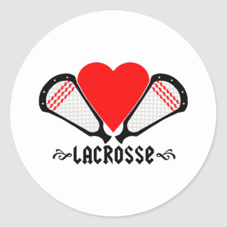 Pegatina de GirlsLacrosse de los diseños de LaCros