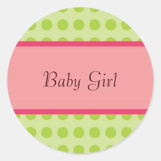 Pegatina de Gril del bebé - personalizable