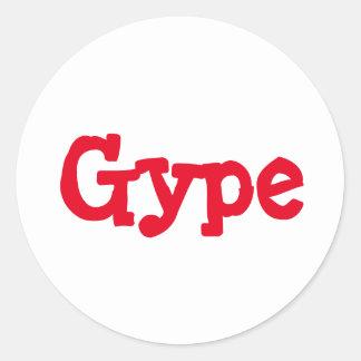 Pegatina de Gype - palabras dóricas