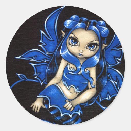 """Pegatina """"de hadas"""" azul hermoso"""