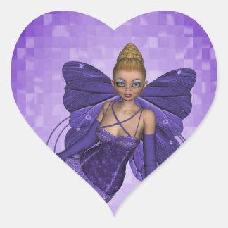 Pegatina de hadas del corazón de Ana del ángel