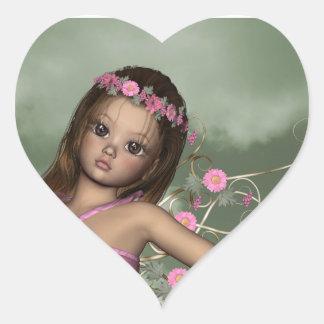 Pegatina de hadas del corazón de Christina del