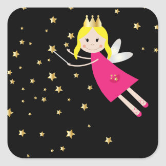 Pegatina de hadas del deseo de la princesa,