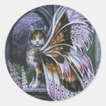 Pegatina de hadas del gato del calicó del Foxglove