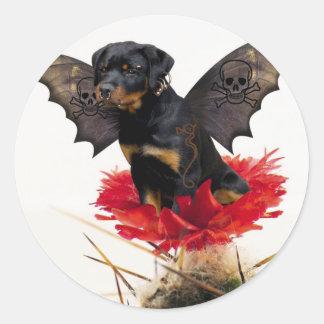 Pegatina de hadas del perro de Rottweiler