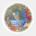 Pegatina de hadas ilustrado mágico del navidad