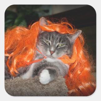 Pegatina de Halloween con el gato