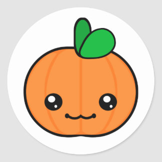 Pegatina de Halloween de la calabaza de Kawaii
