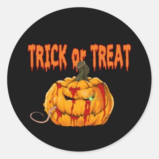 Pegatina de Halloween de la invitación de la calab
