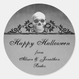 Pegatina de Halloween del capítulo del cráneo