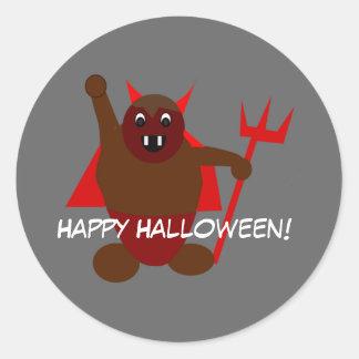 Pegatina de Halloween del diablo