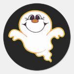 Pegatina de Halloween del fantasma del bebé