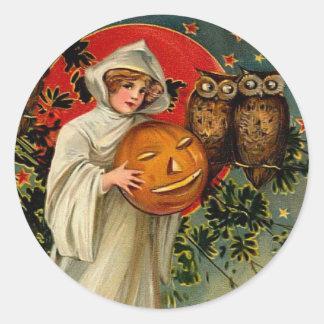 Pegatina de Halloween del vintage