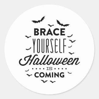 Pegatina de HALLOWEEN Halloween del APOYO USTED