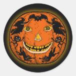 Pegatina de Halloween Jack O'Lantern del vintage