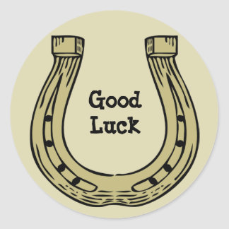 Pegatina de herradura de la buena suerte