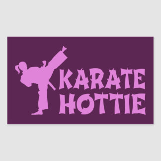 Pegatina de Hottie del karate - artista marcial