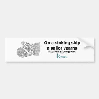 Pegatina de hundimiento de la nave JDOG (cantidad  Pegatina Para Auto