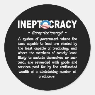 Pegatina de Ineptocracy de la administración de