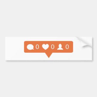 Pegatina de Instagram Pegatina Para Auto