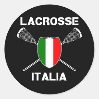 Pegatina de Italia de la bandera de LaCrosse