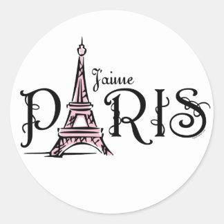 Pegatina de J aime París