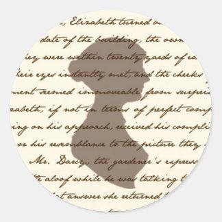 Pegatina de Jane Austen