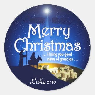 Pegatina de Jesús de la alegría del 2:10 de Lucas