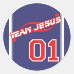 Pegatina de Jesús del equipo