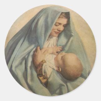 Pegatina de Jesús del Virgen María y del bebé