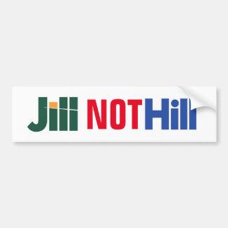 """Pegatina de Jill Stein anti-Hillary no de la Pegatina Para Auto"
