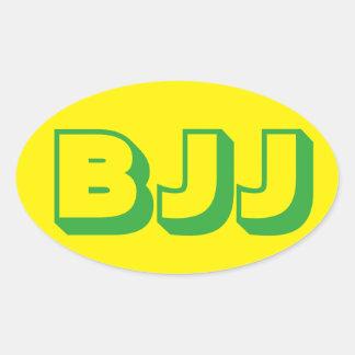 Pegatina de Jiu Jitsu del brasilen@o de BJJ Pegatina Ovalada