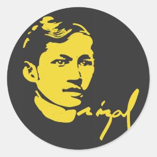 Pegatina de Jose Rizal