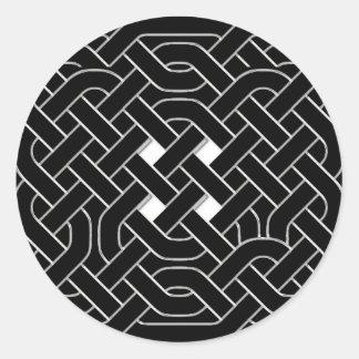 Pegatina de Knotwork del Celtic