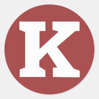 "Pegatina de Kongregate ""K"" - grande"