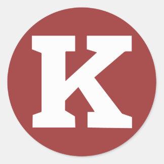 "Pegatina de Kongregate ""K"" - pequeño"