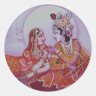 Pegatina de Krishna de las liebres